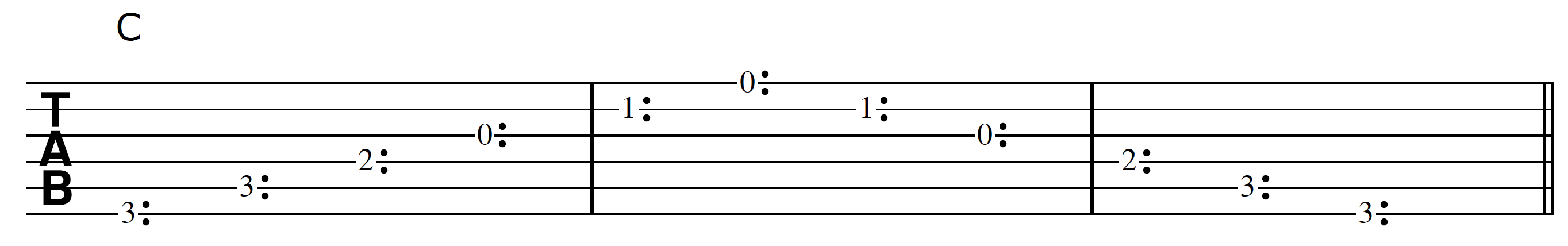 Harp Harmonic Tracking C Chord