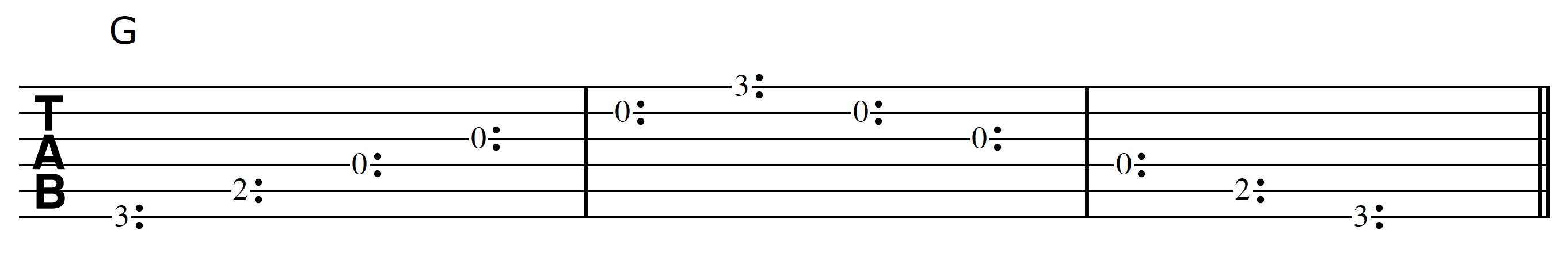 Harp Harmonic Tracking G Chord