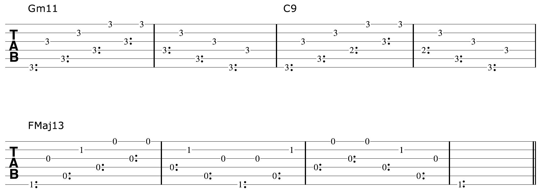 Harp Harmonic Chord Progression