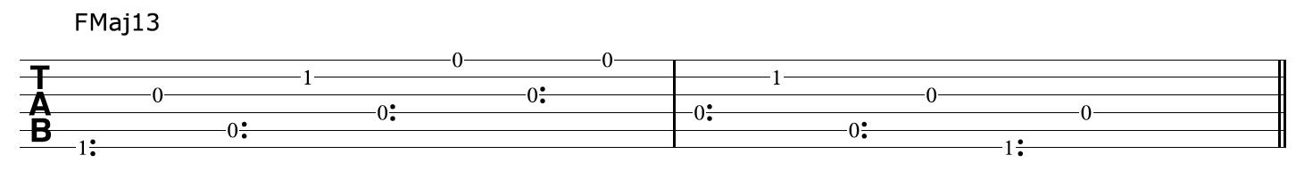FMaj13 Harp Harmonics
