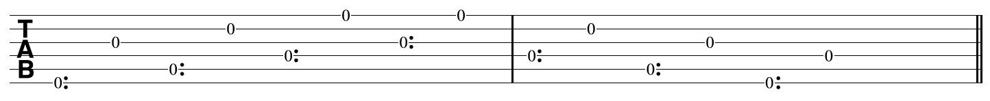 Open String Harp Harmonics