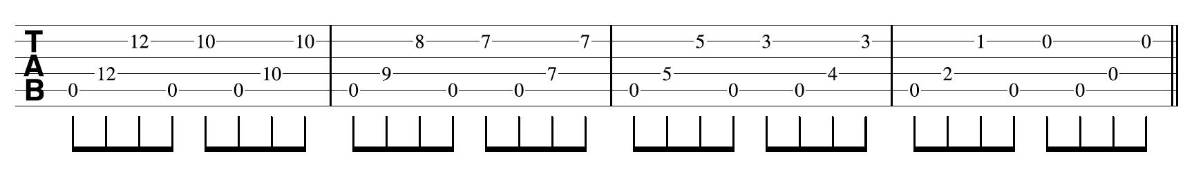 Open G Tuning Guitar 6th Etude