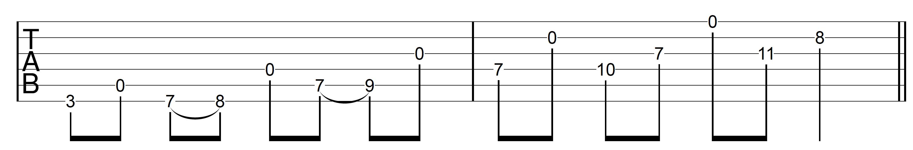 Open String Scale G Major 2 Ascend Open