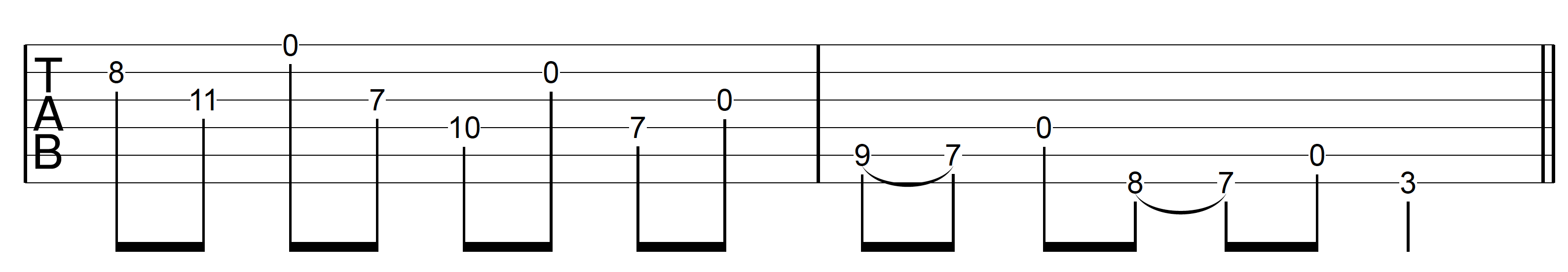 Open String Scale G Major 2 Descend Open