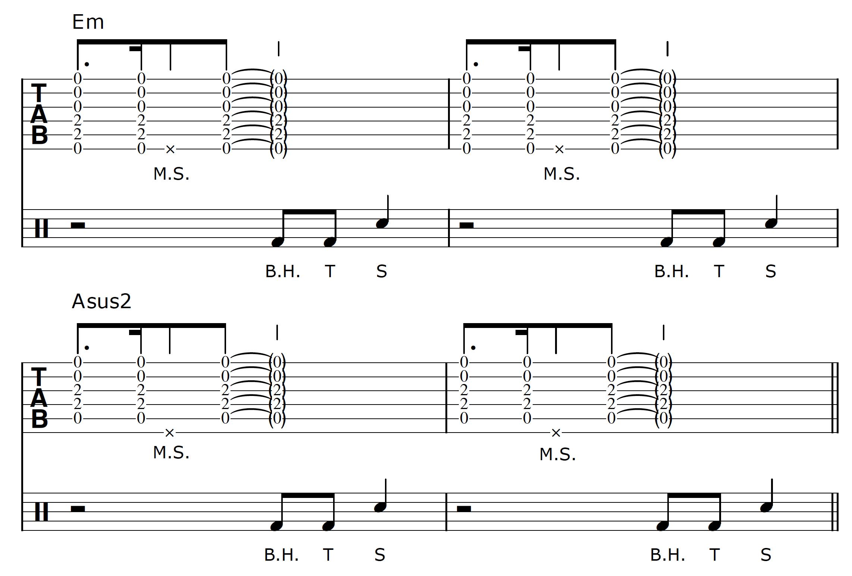 Percussive Guitar Progression 1