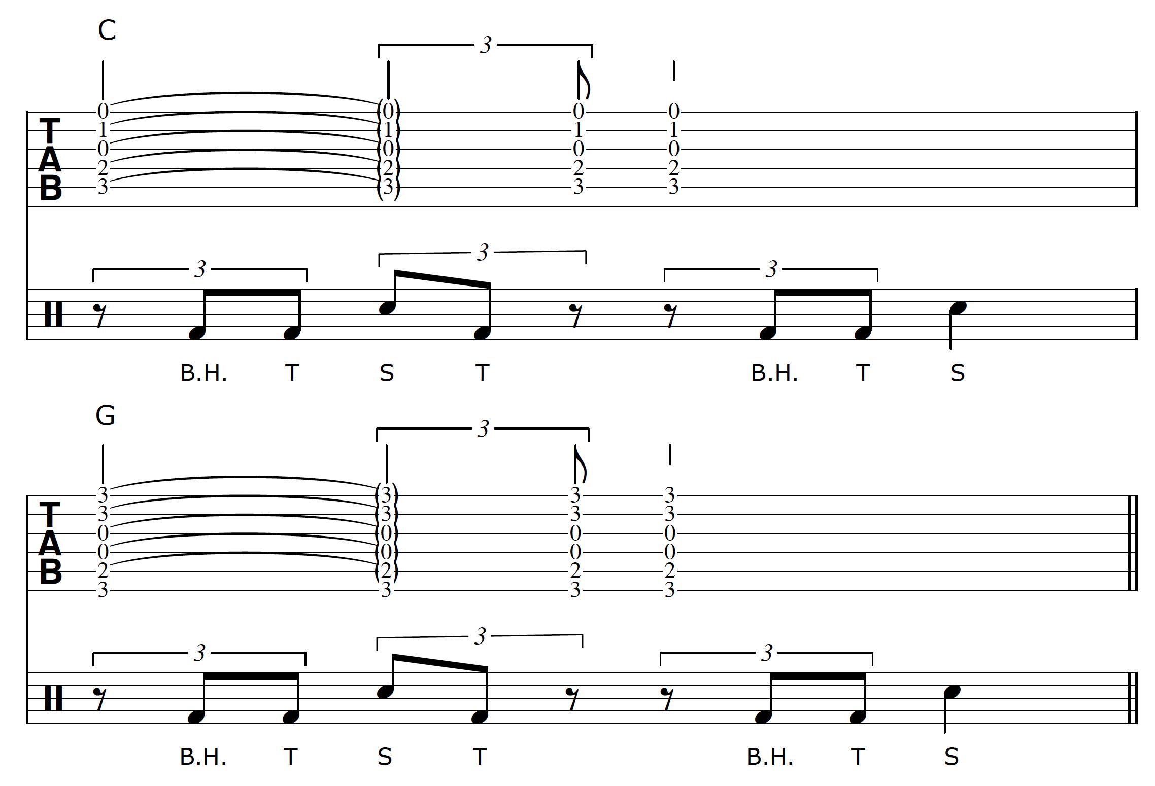 Percussive Guitar Progression 2