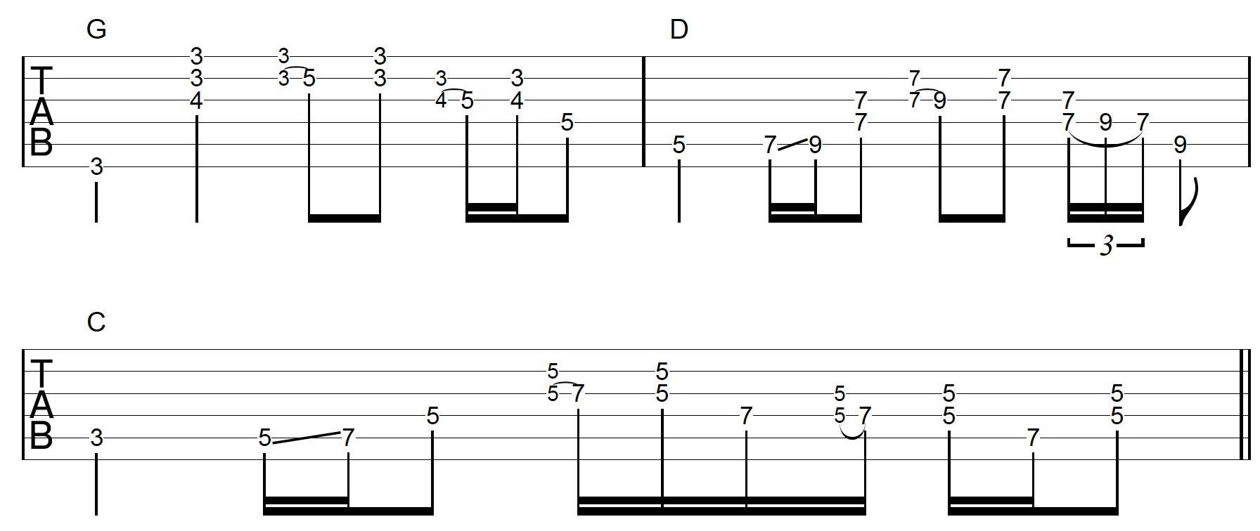 Rhythm Guitar Chord Fill Application 1