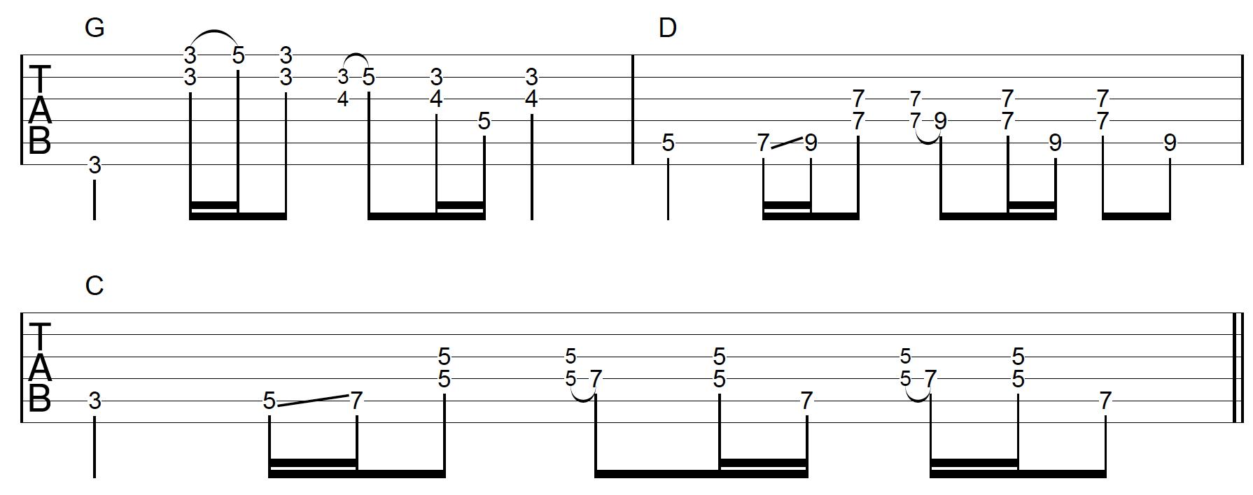 Rhythm Guitar Chord Fill Application 2