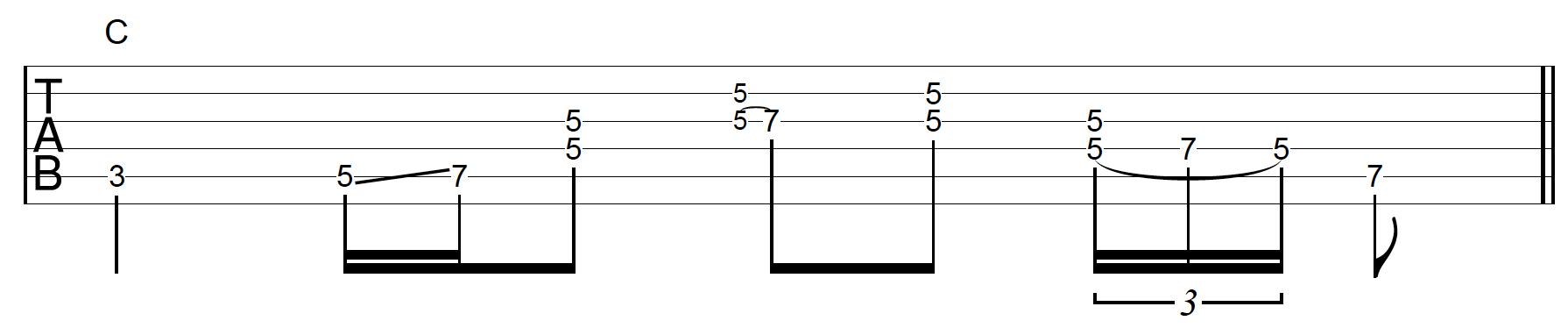 Rhythm Guitar Chord Fill 1