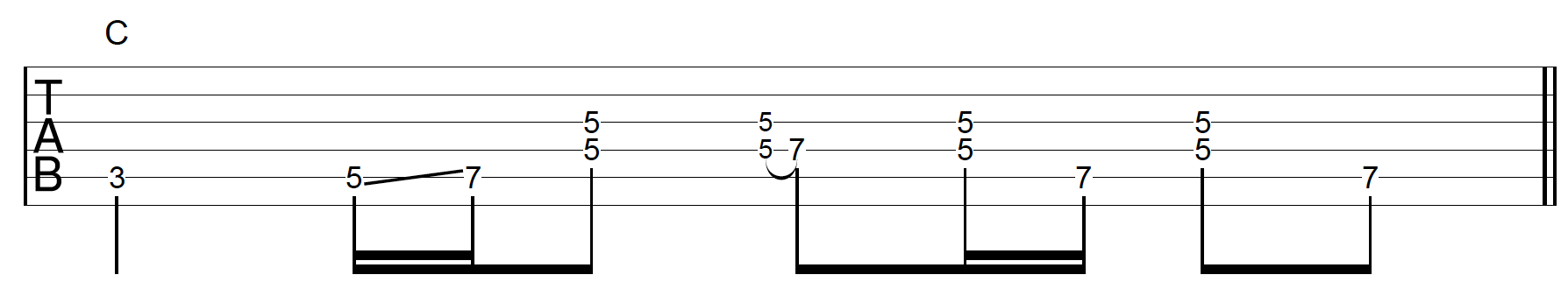 Rhythm Guitar Chord Fill 2