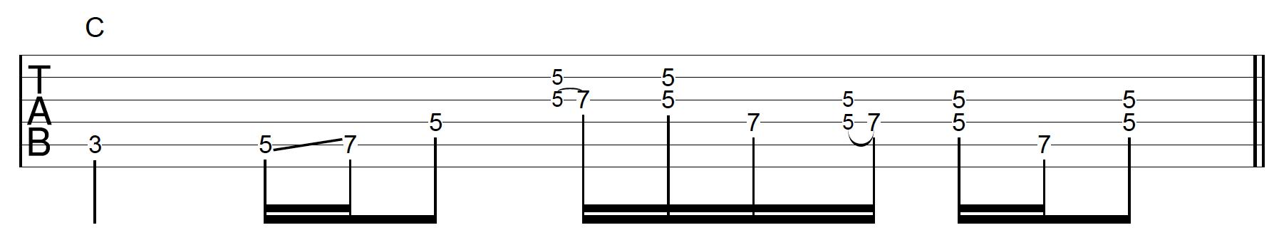 Rhythm Guitar Chord Fill 3