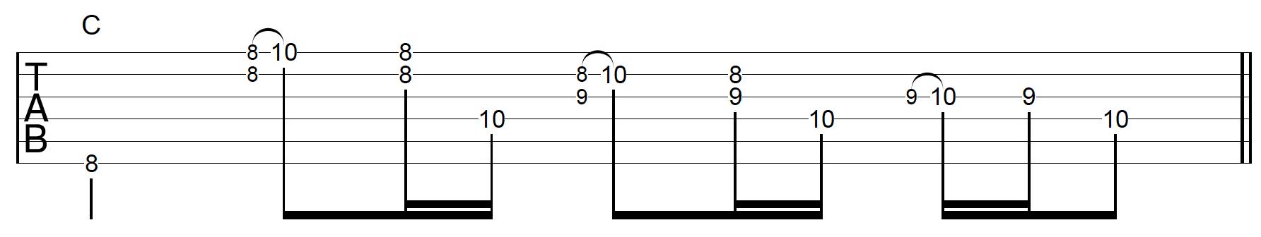 Rhythm Guitar Chord Fill 4