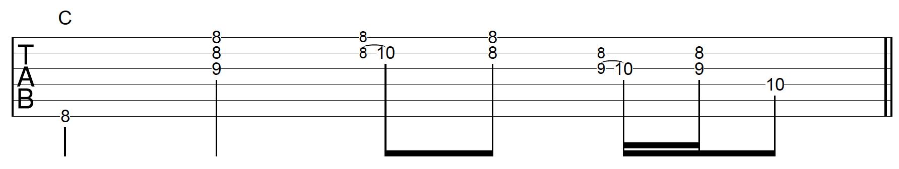 Rhythm Guitar Chord Fill 5