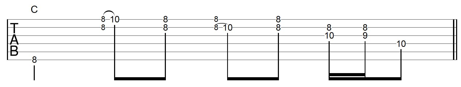Rhythm Guitar Chord Fill 6