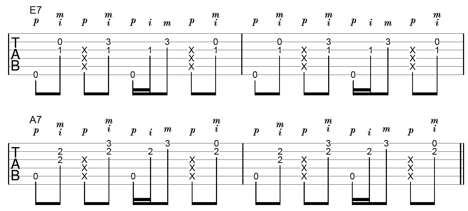 Thumb Slap Chord Progression 1