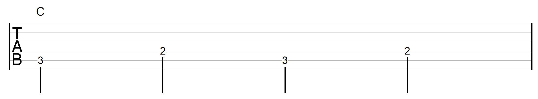 Travis Picking Pattern Guitar C Chord 1