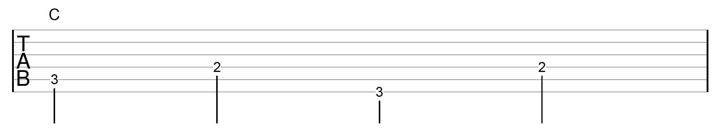 Travis Picking Pattern Guitar C Chord 2