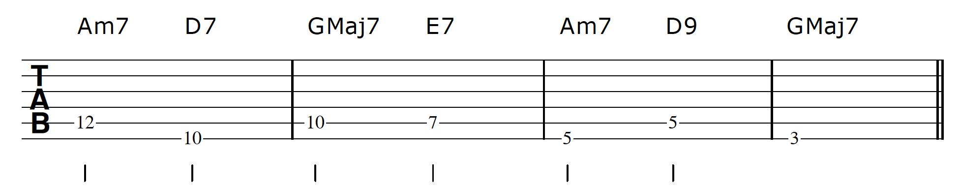 Walking Bass Line Guitar Step 2