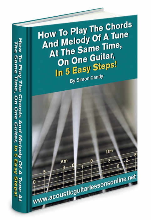 Chords And Melody On One Guitar Book Image