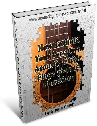 Acoustic Guitar Blues Fingerpicking 3D Image