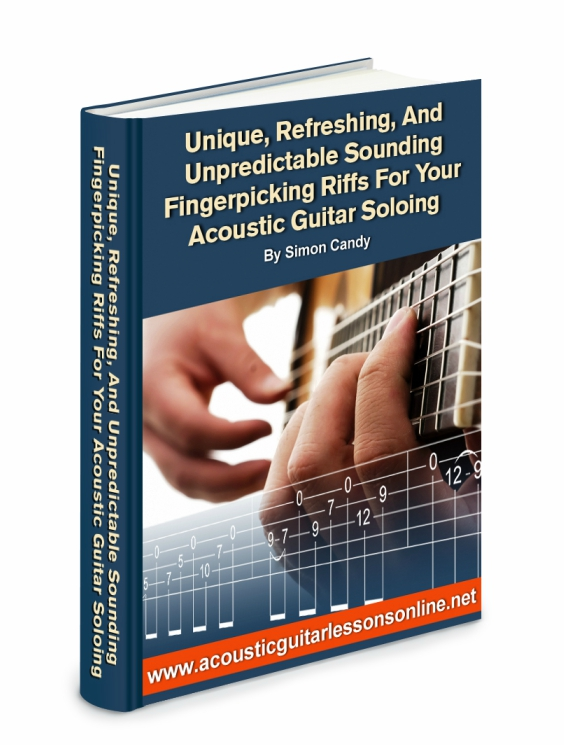 Acoustic Solo Fingerpicking Riffs Ebook Image