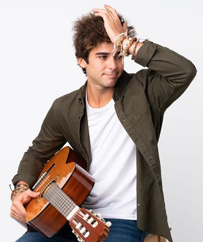 Frustrated Acoustic Fingerpicking Guitar Player