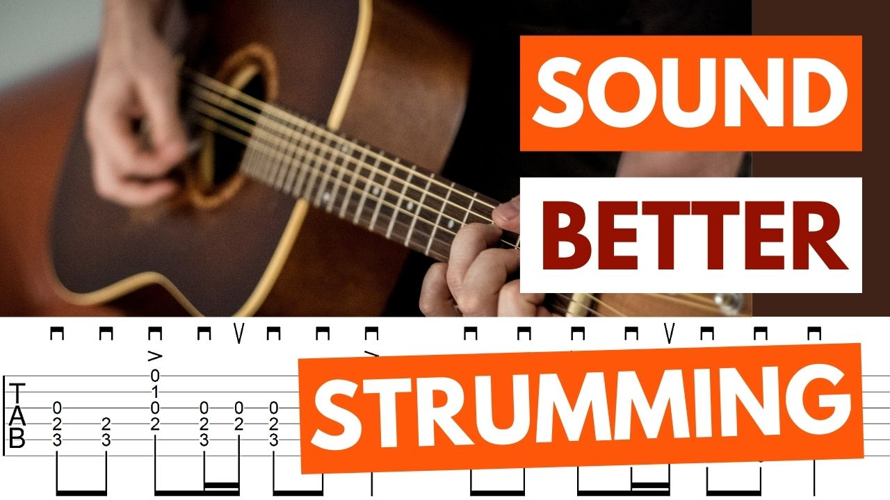 Sound Better Strumming Guitar Video Page Pic
