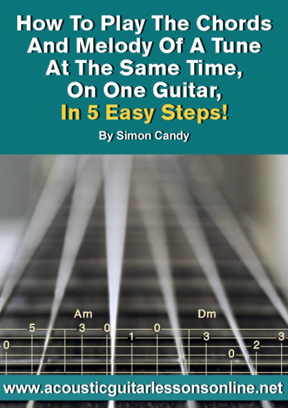 Playing Chords And Melody Guitar Arrangements