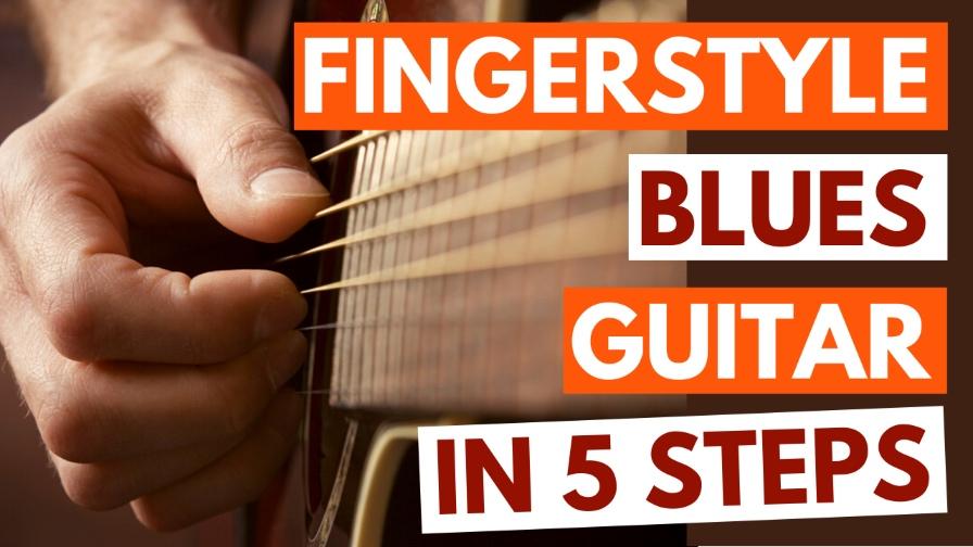 Fingerstyle Blues Guitar Arrangement Tutorial Image
