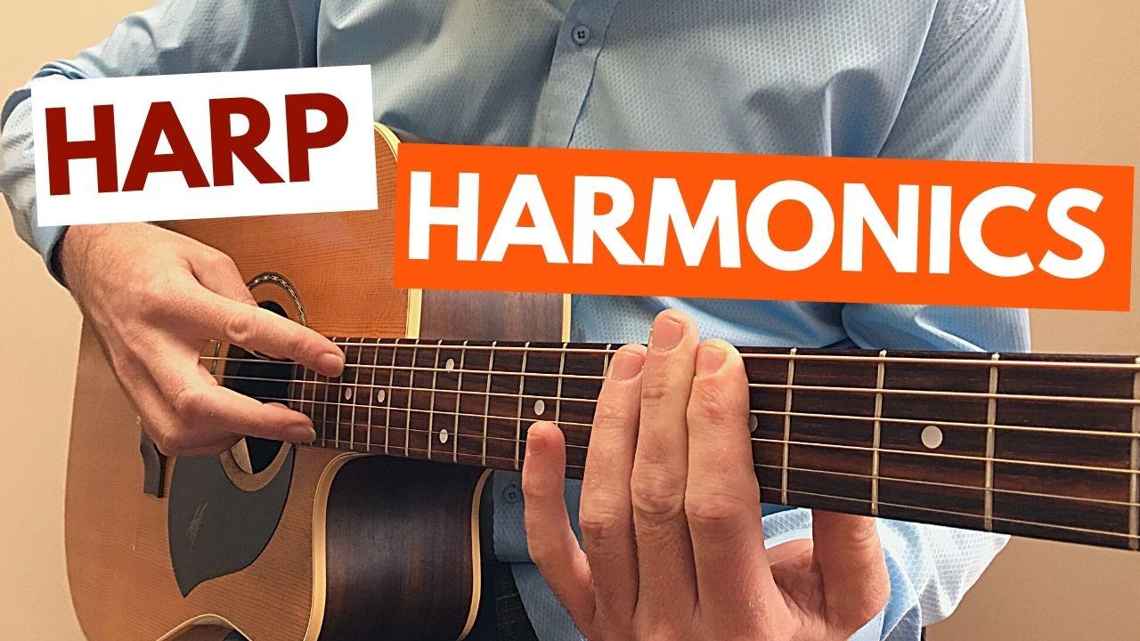 Harp Harmonic Guitar Lesson Pic